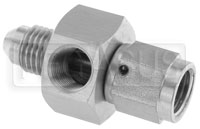 4AN Male to 4AN Female Adapter w/ 1/8 NPT in Hex, Stainless