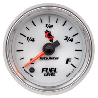 "Auto Meter C2 2"" Stepper Fuel Level Gauge, Programmable"