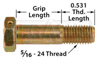 AN5 Airframe Bolt - Drilled Head, 5/16-24 Thread