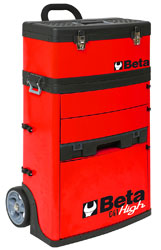 Beta Tools C41H/R Two Module Tool Trolley, High - Red