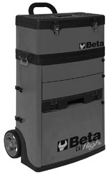 Beta Tools C41H/G Two Module Tool Trolley, High - Grey