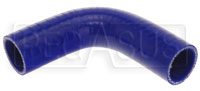 "Blue Silicone Hose, 1 1/4"" I.D. 90 degree Elbow, 4"" Legs"