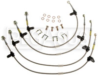 G-Stop Brake Line Set, 90-91 Honda CRX SI (with rear disc)