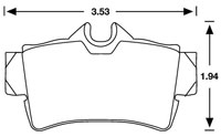 Hawk Brake Pad, 94-04 Mustang Rear (D627)