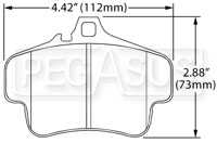 Hawk Brake Pad, Porsche Rear (D738)