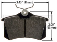 Hawk Brake Pad: Audi, VW Rear (D340, D1017)