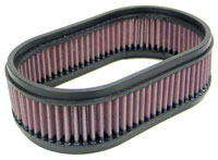 K&N Filter Element, Large Oval (5.5 W x 9 L x 2.75 H)