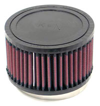 K&N Clamp-On Filter, Round, 3.5 Flange, 5 OD x 3 H