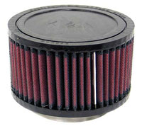 K&N Clamp On Filter, Round, 3 Flange, 5 OD x 3 H