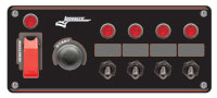 Switch Panel: Ignition, Start Button, 4 Acc w/ Boots & Lites