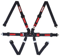 RaceQuip 6-Point FHR 2x2 FIA Formula Car Harness, Pull Up