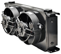 Setrab Fanpack: Series 9 Cooler, 20 Row, with Dual 12 v Fans