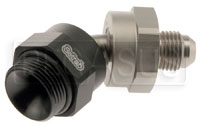 Setrab M22 to 6AN Male Adapter, 45 Degree