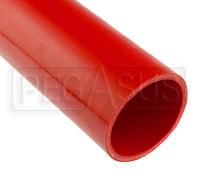 Red Silicone Hose, Straight, 3 1/2 inch ID, 1 Foot Length