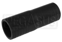 Black Silicone Hose, 1 1/2 x 1 3/8 inch Straight Reducer
