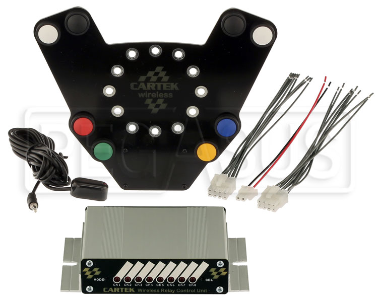 Large photo of Cartek Wireless Steering Wheel Controls, 8 Channels, Pegasus Part No. 1068-103