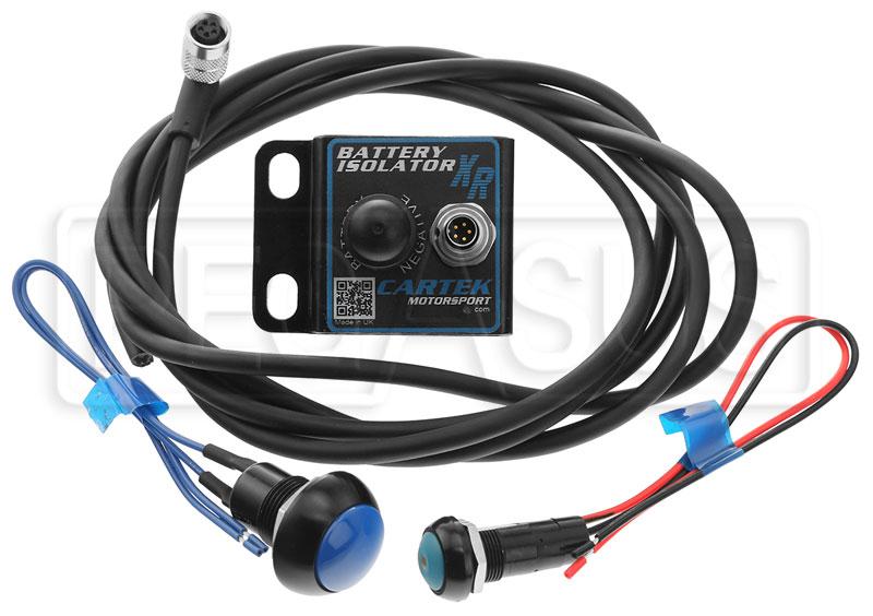 Cartek Xr Battery Isolator Kit With Blue External Button