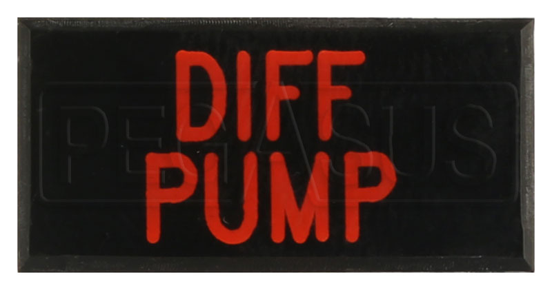 Large photo of Dash Badge Identification Plate (Differential Pump), Pegasus Part No. 1100-DIFFPUMP
