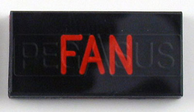 Large photo of Dash Badge Identification Plate (Fan), Pegasus Part No. 1100-FAN