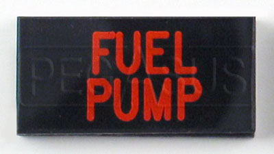Large photo of Dash Badge Identification Plate (Fuel Pump), Pegasus Part No. 1100-FUELPUMP