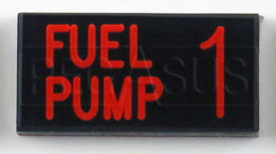Large photo of Dash Badge Identification Plate (Fuel Pump 1), Pegasus Part No. 1100-FUELPUMP1