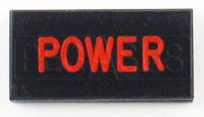 Large photo of Dash Badge Identification Plate (Power), Pegasus Part No. 1100-POWER