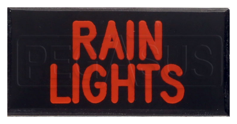 Large photo of Dash Badge Identification Plate (Rain Lights), Pegasus Part No. 1100-RAINLIGHTS