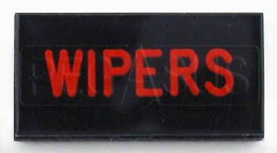 Large photo of Dash Badge Identification Plate (Wipers), Pegasus Part No. 1100-WIPERS
