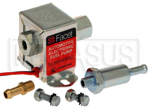Facet Cube 12v Fuel Pump, 18 NPT, 1.5 4 psi
