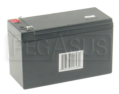 Large photo of (B) 12-Volt 7.5AH TAG Kart Battery, Pegasus Part No. 1168