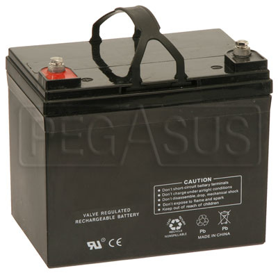 Large photo of (B) 33 AH Sealed Racing Battery (SCCA Spec Racer), Pegasus Part No. 1171