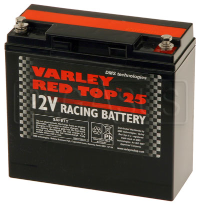 Large photo of (B) Varley Red Top 25 Battery, 20AH, Pegasus Part No. 1177-003