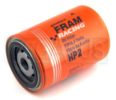 fram performance fuel filter fram hp-2 high-performance oil filter, 13/16-16, small od ...