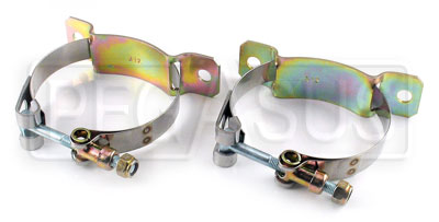 Large photo of 2 and 3 Quart Canton Accusump Mounting Clamps, pair, Pegasus Part No. 1246