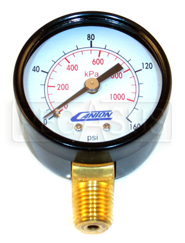 Large photo of Replacement Standard Pressure Gauge for Canton Accusump, Pegasus Part No. 1263-Size