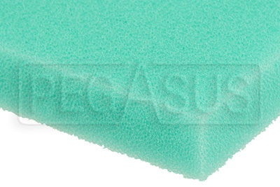 Large photo of Air Filter Foam Sheet, Green (65 PPI Fine), 12 x 16 x 5/8, Pegasus Part No. 1265-201