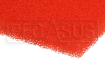 Large photo of Air Filter Foam Sheet, Red (40 PPI Medium), 12 x 16 x 3/8, Pegasus Part No. 1265-202