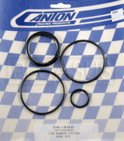 Large photo of Canton Remote Oil Filter Seal Kit, Pegasus Part No. 1296