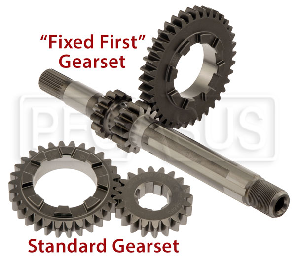 Large photo of Hewland High-Strength Gear Set for Mk 8, 9, Pegasus Part No. 1404-Ratio