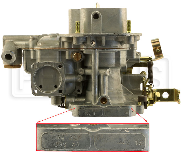 Weber Carburetor Identification and Model Numbers - Pegasus