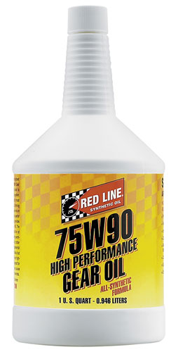 Large photo of Red Line Synthetic Gear Oil, Pegasus Part No. 1693-Viscosity-Quantity