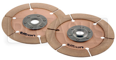 Large photo of Tilton OT-2 Dual Clutch Disc Set, Stacked Hubs, 1x23 Spline, Pegasus Part No. 173-23-OT2