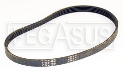 Large photo of 19 inch Poly-Vee Water Pump Belt, Pegasus Part No. 176-06-19