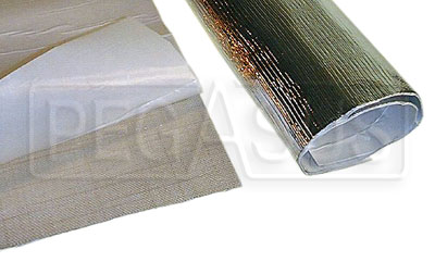 Large photo of Aluminized Heat Barrier, Adhesive Backed, Pegasus Part No. 1828-Size