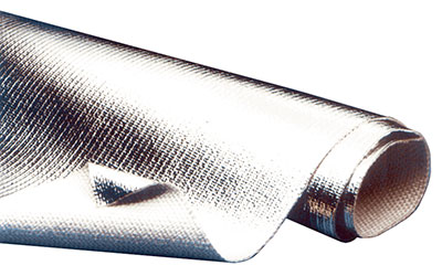 Large photo of Aluminized Heat Barrier Cloth, Non-Adhesive, Pegasus Part No. 1832-Size