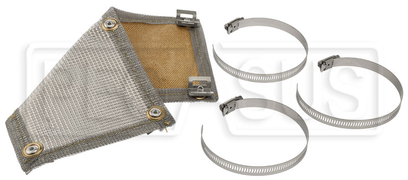 Thermo-Tec Stainless Steel Clamp-On Heat Shield, 1' x 6