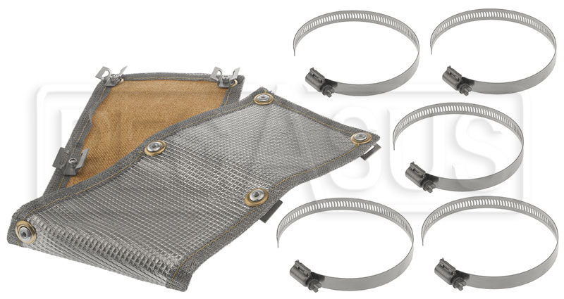 Thermo-Tec Stainless Steel Clamp-On Heat Shield, 2' x 6