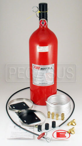 Large photo of (H) FireBottle 10lb. Halon Pull System, Pegasus Part No. 2007