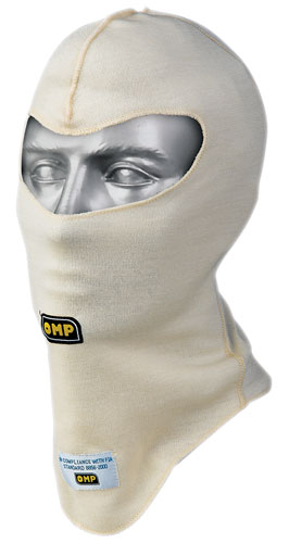 Large photo of OMP First 2-Layer Nomex Balaclava, Open Face, FIA / SFI, Pegasus Part No. 2153-001