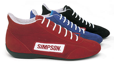 Large photo of Simpson Low-Top Driving Shoe, SFI Approved, Pegasus Part No. 2181-Size-Color